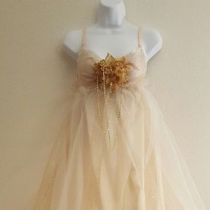 Gatsby Ivory & Gold Empire Wedding Gown